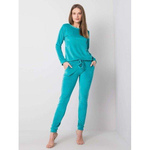 Moteriškas veliūrinis  laisvalaikio kostiumėlis CLARISA - Turkio spalvos