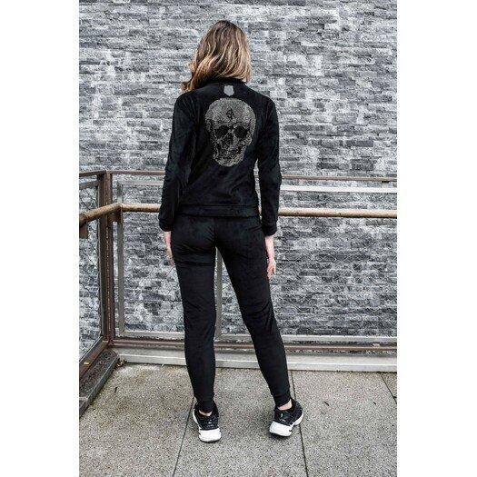 """Moteriškas veliūrinis """"Anarchy"""" kostiumas - Juodas"""