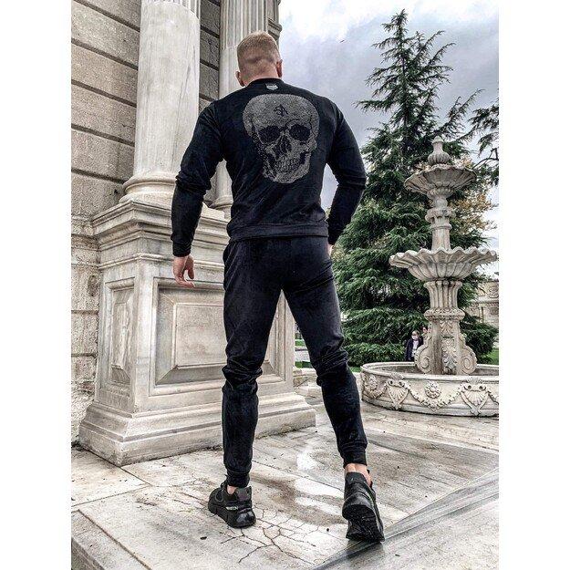 """Vyriškas veliūrinis """"Anarchy"""" kostiumas - Juodas"""