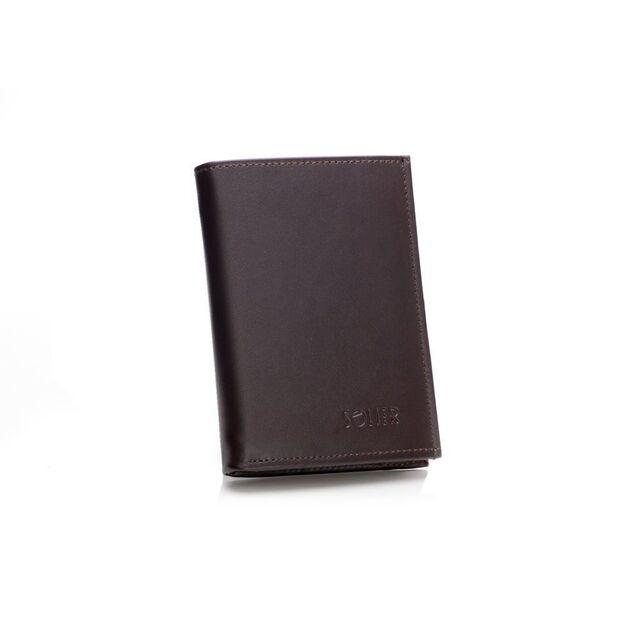 Elegantiška odinė piniginė SOLIER SW08 - Ruda