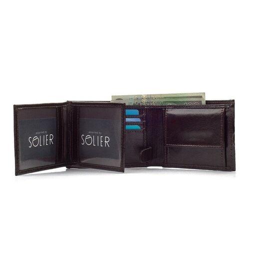 Elegantiška vyriška piniginė SOLIER SW03B - Ruda