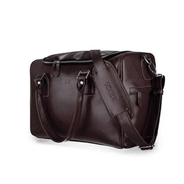 Genuine leather woman's crossbody Lauren FL17 burgundy