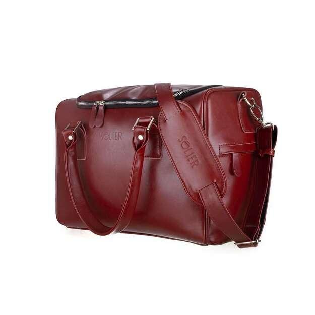 Natūralios odos savaitgalio krepšys Dratford SL27 - Bordo