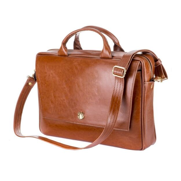 Genuine leather woman's laptop bag FL14 Rimini vintage brown