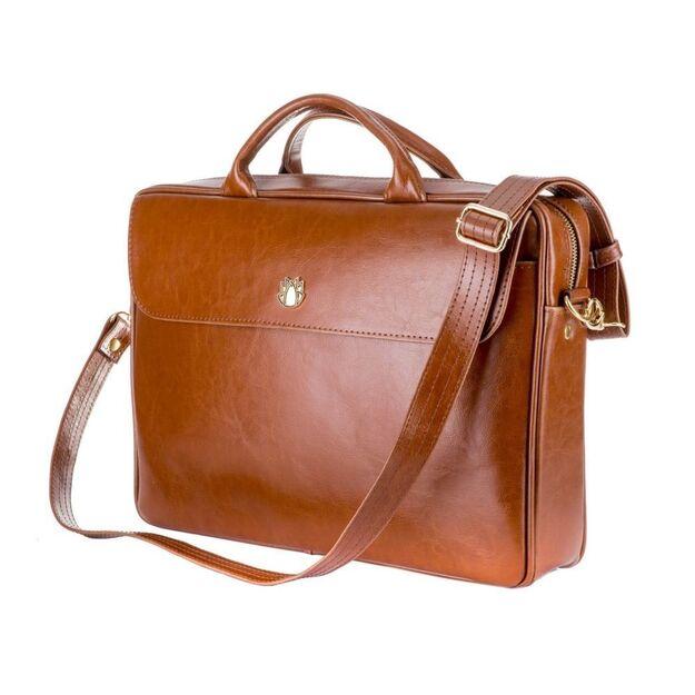 Genuine leather woman's laptop bag FL16 Sorrento vintage brown