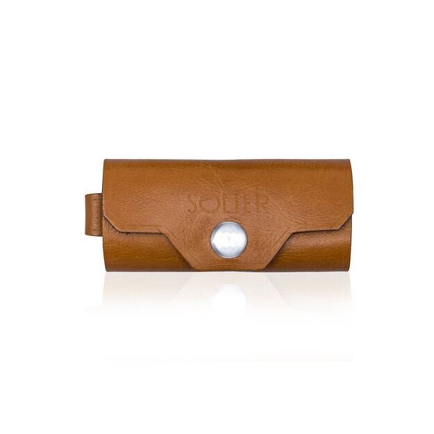Leather men's key holder SOLIER SA11 CAMEL