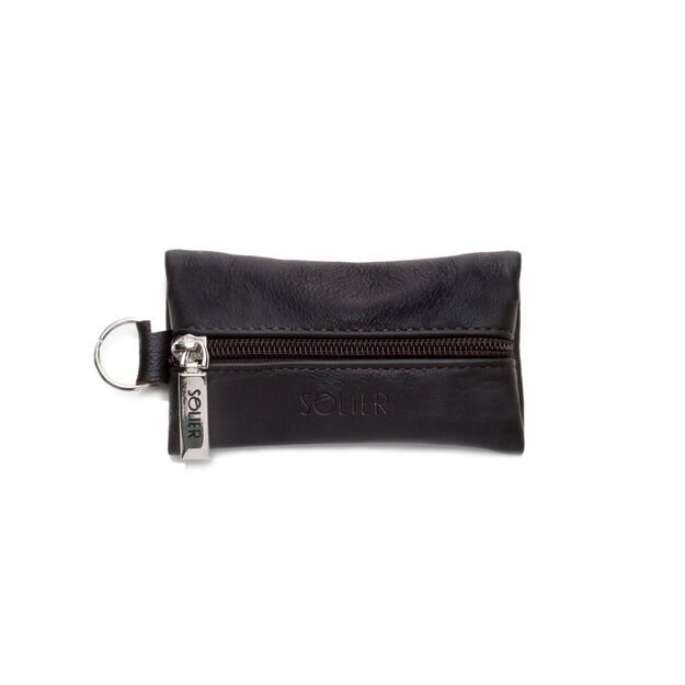 Leather men's key holder SOLIER SA18 BROWN