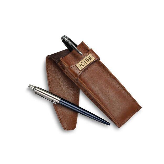 Leather men's pen case SA12 VINTAGE BROWN