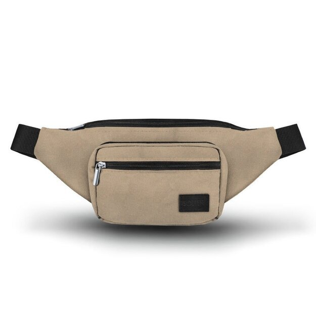 Men's waist bag Solier SN03 beige