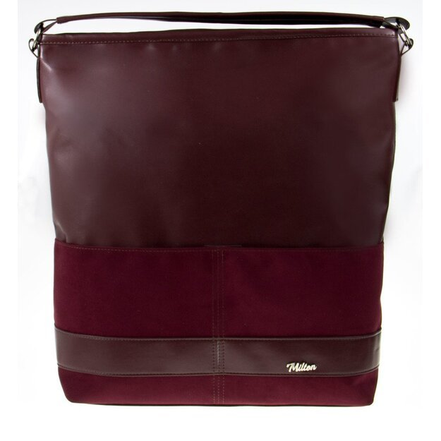WOMEN SHOPPER BAG MILTON ML13 MAROON