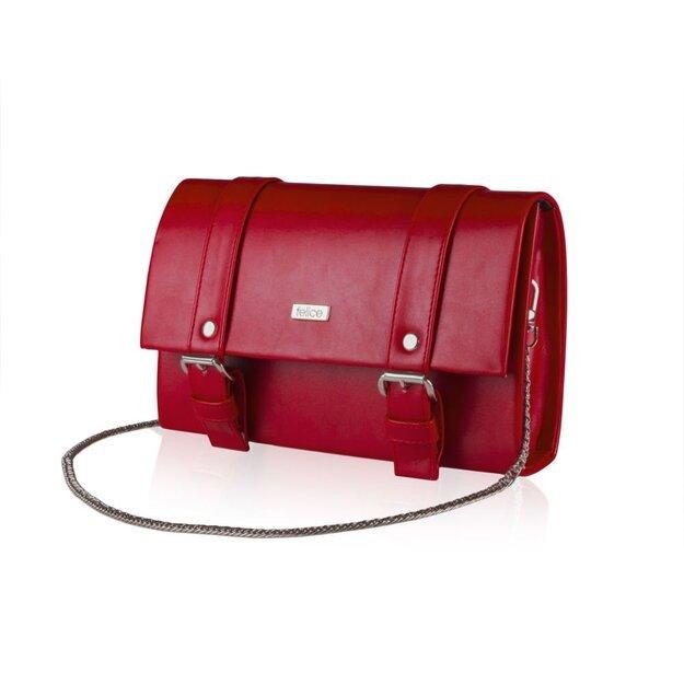Women's Clutch bag Felice F20 red mat