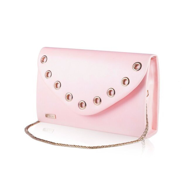 Women's Clutch bag with chain Felice F21 powder pink