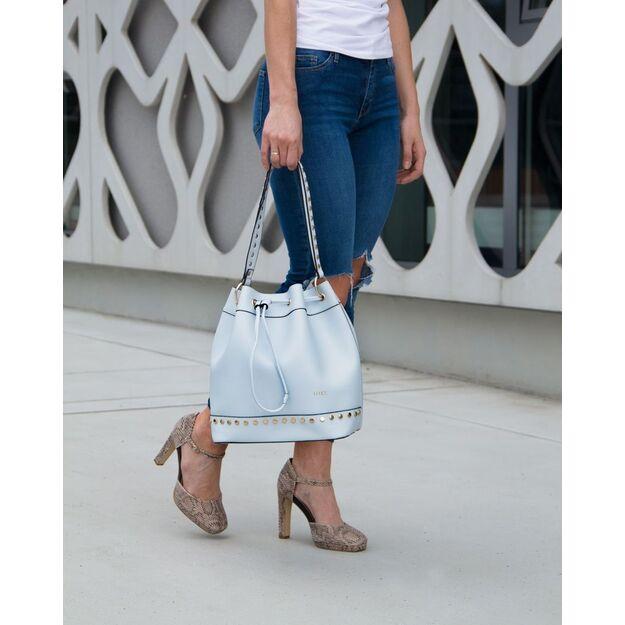 Women's shopper bag Felice FB40 light blue